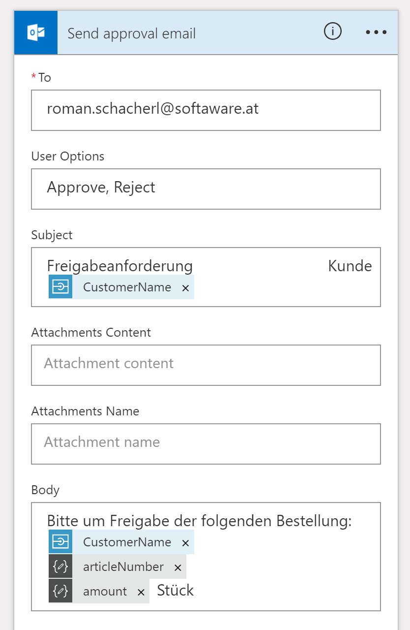 Send approval email in Azure Logic App